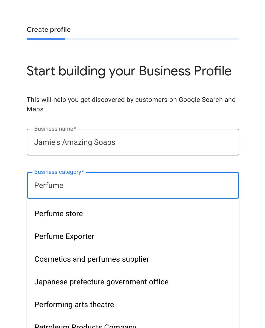 create-profile
